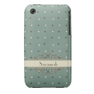 Cool Retro Polka Dots Case-Mate iPhone 3 Cases