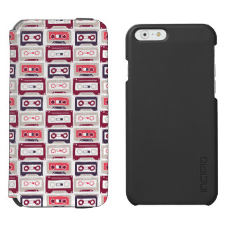 Cool retro vintage cassettes vector pattern incipio watson™ iPhone 6 wallet case