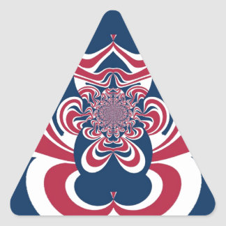 Cool Retro Vintage Hakuna Matata Gifts trendy flag Triangle Sticker