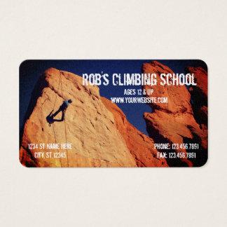 Cool Rock Climbing School Business Card