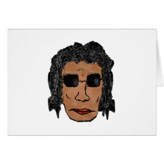 Cool Rock Star Man Drawing Card