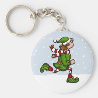 cool runnings elf basic round button key ring