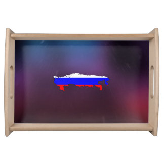 Cool russia Flag Map Serving Tray