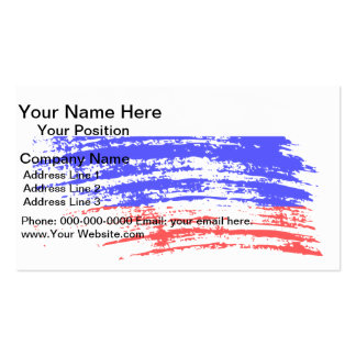 Cool Russian flag design Business Card Templates