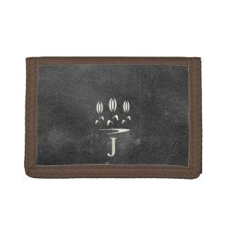 Cool Rustic Black Leather Look Gardener Wallet