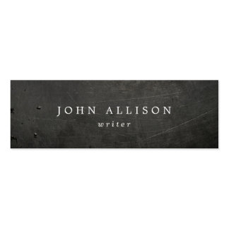 Cool Rustic Guy's Black Scratched Metal Pack Of Skinny Business Cards