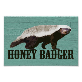 Cool Rustic Honey Badger Poster