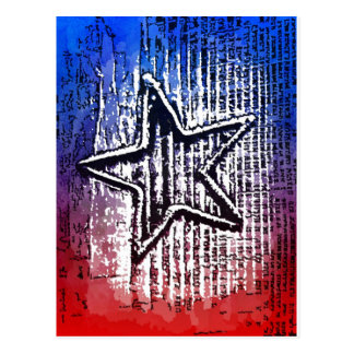 Cool Rustic Lone Star Pop Art Print Postcard