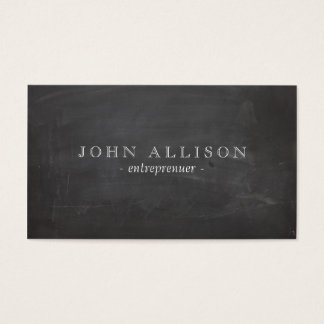 Cool Rustic Vintage Guy's Black Chalkboard