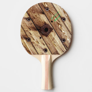 Cool Rustic Wood Ping Pong Paddle