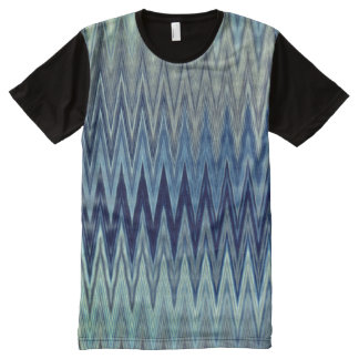 COOL Rustic Zigzag Wavy Pattern All-Over Print T-Shirt