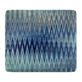 COOL Rustic Zigzag Wavy Pattern Cutting Board