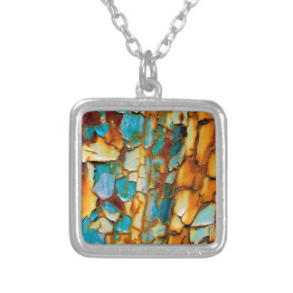 Cool Rusty Paint Rust Old Paintwork Cracked Custom Necklace