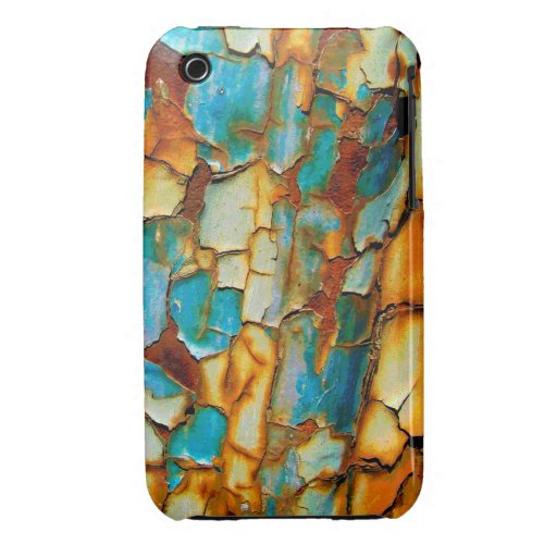 Cool Rusty Paint Rust Paintwork Cracked texture iPhone 3 Cases