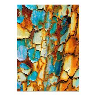 Cool Rusty Paint Rust Paintwork Cracked texture Custom Invitations