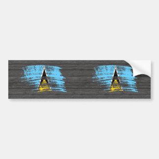 Cool Saint Lucian flag design Bumper Stickers
