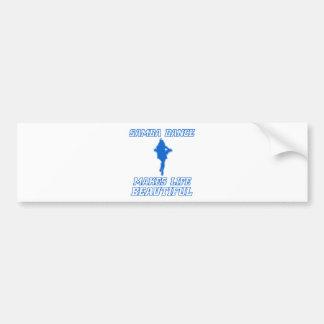 Cool SAMBA dance designs Bumper Sticker
