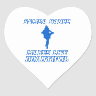 Cool SAMBA dance designs Heart Sticker