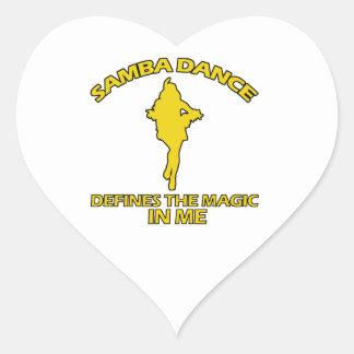 cool samba dance designs heart sticker