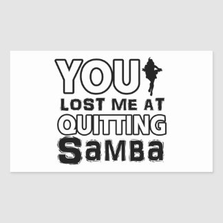 Cool Samba dance designs Rectangular Sticker
