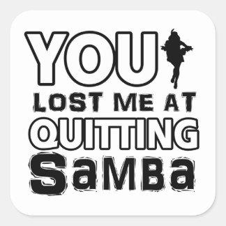 Cool Samba dance designs Square Sticker