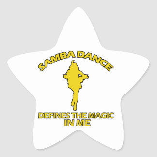cool samba dance designs star sticker