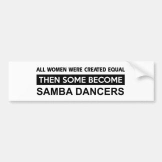 Cool Samba designs Bumper Sticker