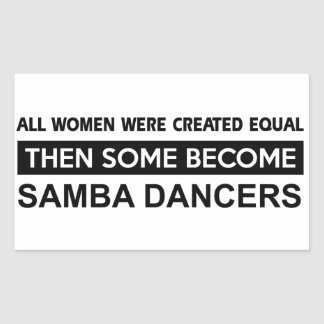 Cool Samba designs Rectangular Sticker