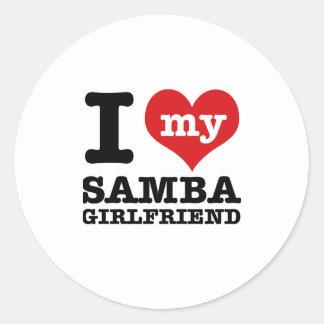 Cool Samba designs Round Sticker