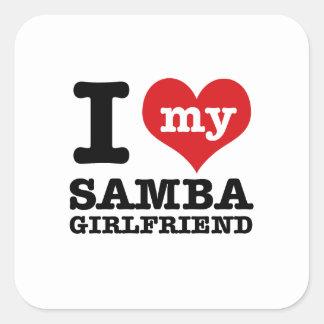 Cool Samba designs Square Sticker