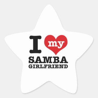 Cool Samba designs Star Sticker