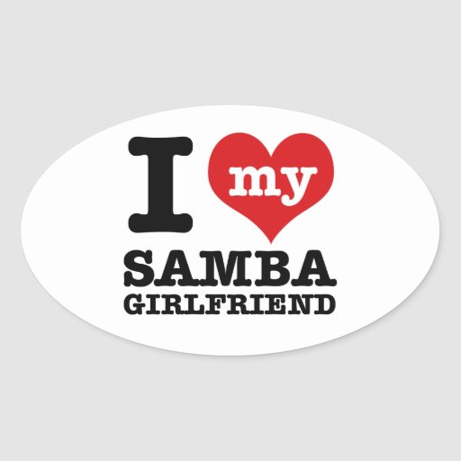 Cool Samba designs Oval Stickers