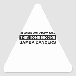 Cool Samba designs Triangle Sticker