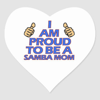 cool samba mom designs heart sticker