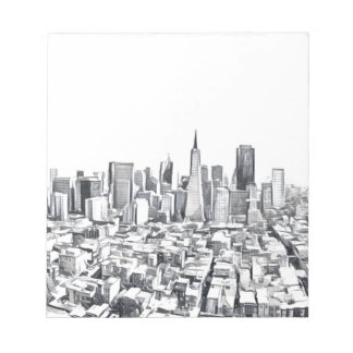 Cool San Francisco SF Citiscape Notepad