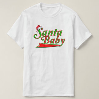 Cool Santa Baby Unique Green Red Christmas T-Shirt