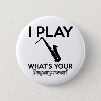 cool saxophone designs 6 cm round badge