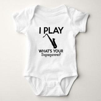 cool saxophone designs baby bodysuit