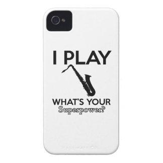 cool saxophone designs Case-Mate iPhone 4 cases