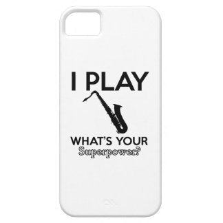 cool saxophone designs iPhone 5 case