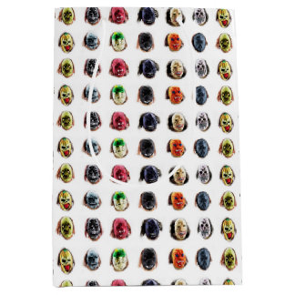 Cool Scary Mask Pattern Medium Gift Bag