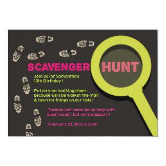 Cool Scavenger Hunt Invitation