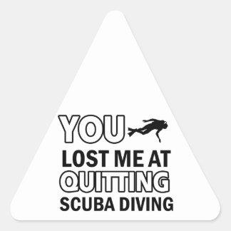 Cool scuba dive designs triangle sticker