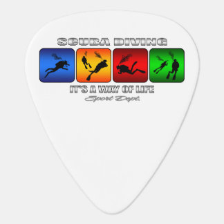 Cool Scuba Diving It Is A Way Of Life Guitar Pick