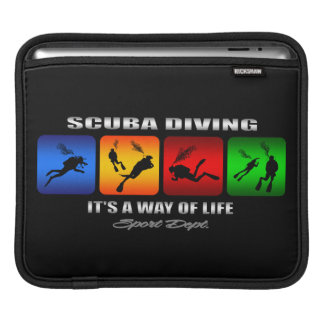 Cool Scuba Diving It Is A Way Of Life iPad Sleeves