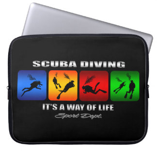 Cool Scuba Diving It Is A Way Of Life Laptop Sleeve