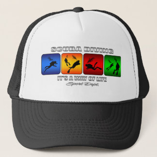 Cool Scuba Diving It Is A Way Of Life Trucker Hat
