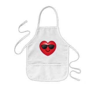 Cool Shades Heart Emoji Kids Apron