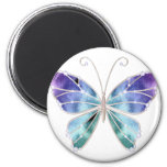 Cool Shades Rainbow Wings Butterfly 6 Cm Round Magnet