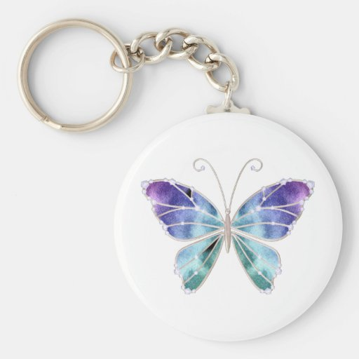 Cool Shades Rainbow Wings Butterfly Key Chain